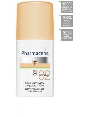 PHARMACERIS FOND DE TEINT MATIFIANT SPF25-02 NATUREL