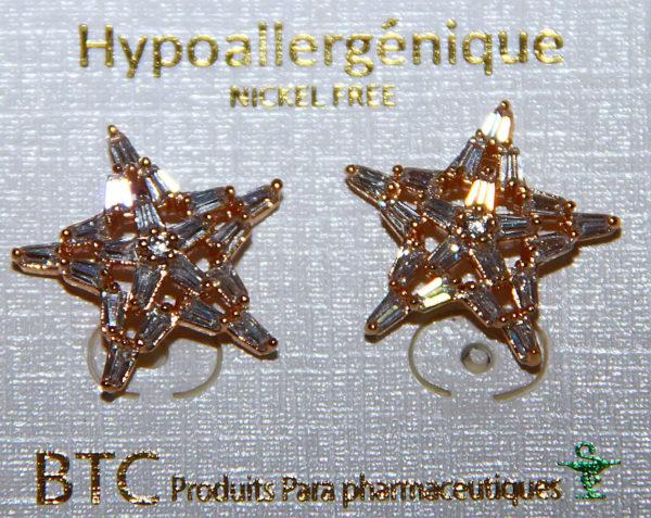 BTC boucles d oreilles hypoallergénique