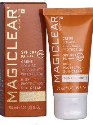MAGICLEAR Crème Solaire TEINTEE SPF 50+, 50ml