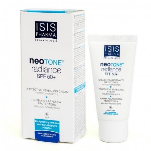 NEOTONE® radianceSPF 50+assure une efficacité anti-taches et préventive par sa protection SPF 50+ et son association de puissants actifs qui réduisent l'intensité des taches pigmentaires et favorisent leur élimination.