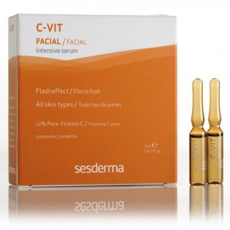 C-Vit Sérum rénovateur intense La vitamine C joue un rôle essentiel dans le fonctionnement de la peau : croissance, stabilité et réactivation du tissu de soutien, protection contre les radicaux libres, synthèse du collagène et prévention des rides.