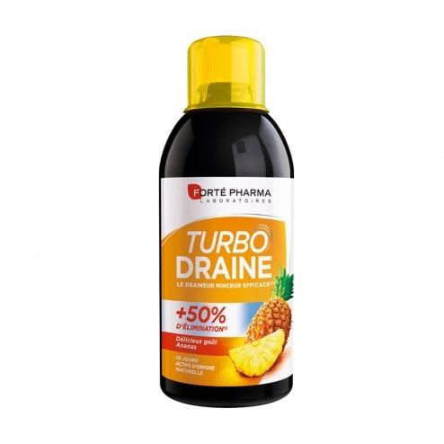FORTÉ PHARMA Turbodraine Ananas Le draineur minceur efficace Délicieux goût ananas Complément alimentaire