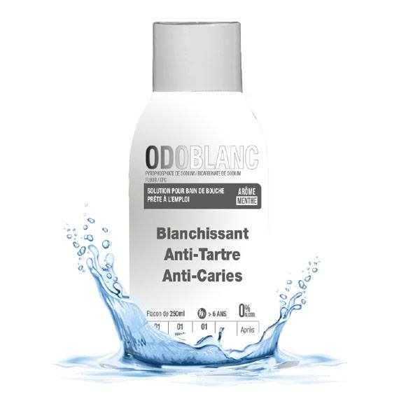 odoblanc solution pour bain de bouche blanchissant,anti -tartre,anti-caries