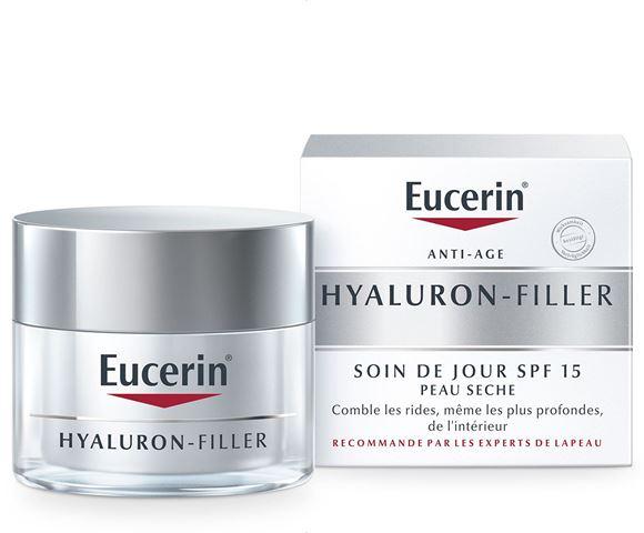 Soin de Jour Eucerin Hyaluron-Filler pour Peau Sèche