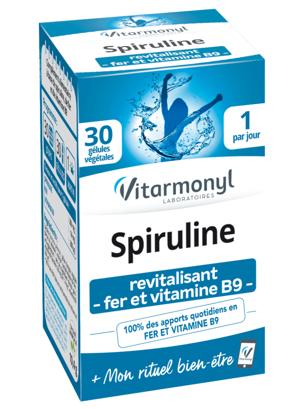 Vitarmonyl Spiruline - Fer - Vitamine B9