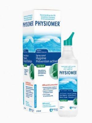 Physiomer Hygiène Nasale Jet Fort nettoie en profondeur le nez des mucosités épaisses (ou purulentes) et des croûtes qui l'encombrent et des particules indésirables.