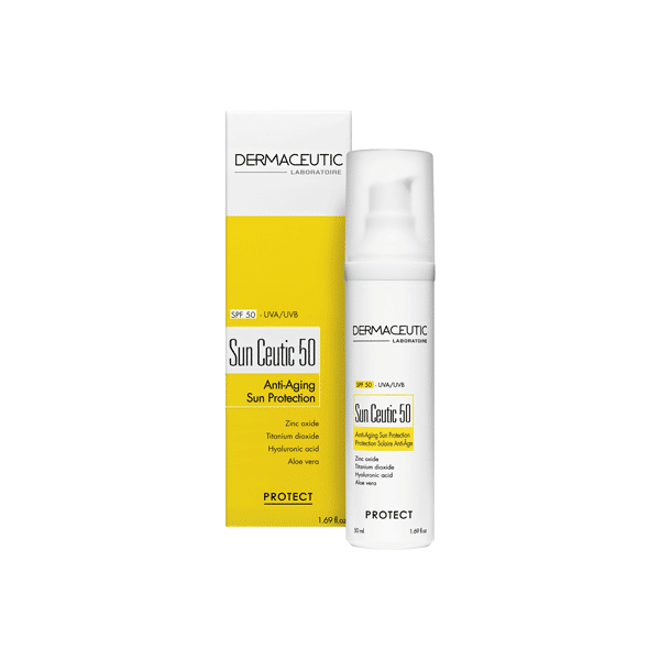 Sun Ceutic SPF 50 est une très haute protection solaire hydratante et anti âge pour une peau protégée et une jeunesse préservée.
