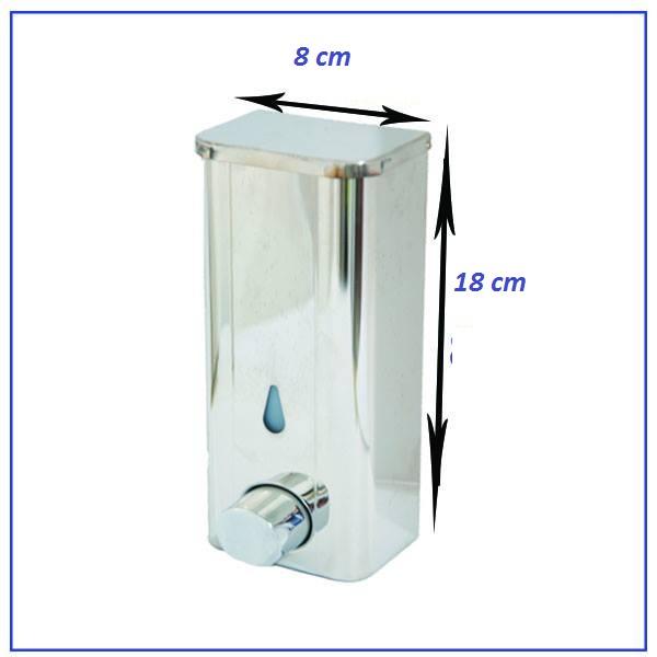 Distributeur en acier inoxydable Pour Gel & Savon 18 cm/ 8 cm - 400 ml