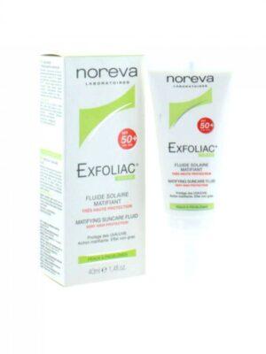 NOREVA EXFOLIAC FLUIDE SOLAIRE SPF 50+ 40ML