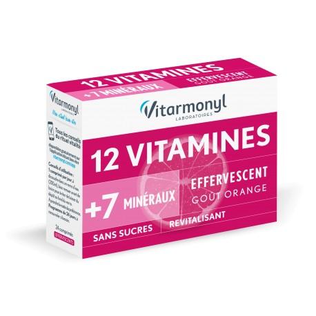 Vitarmonyl Multivitamines 12 Vitamines + 7 Oligo-éléments, 24 comprimés